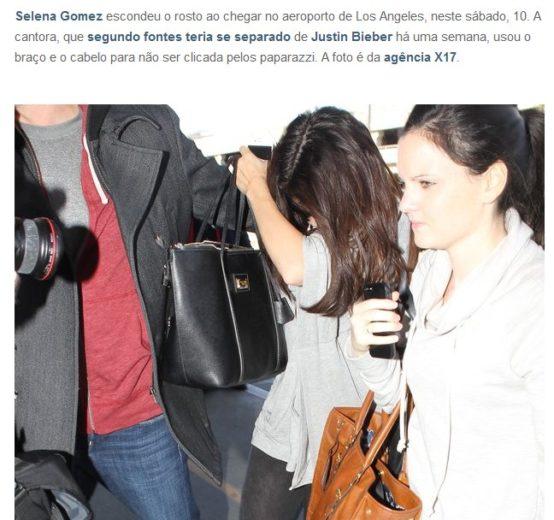 Selena Gomez foge dos paparazzi após boato de separação