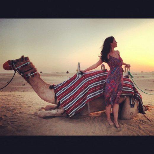 Katy Perry se impressiona com as belezas de Dubai
