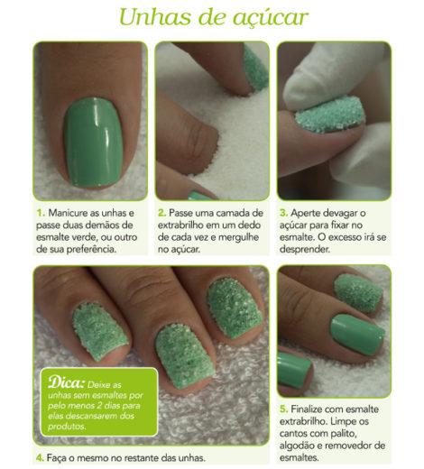 Doce, doce: aprenda a decorar suas unhas com açúcar!