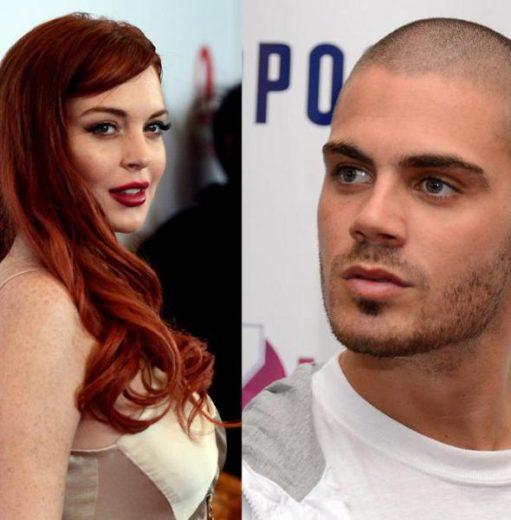 Lindsay Lohan conhece os pais de Max George, do The Wanted