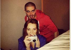 Lindsay Lohan posta foto com Max George, do The Wanted