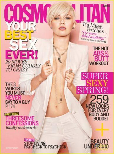 Miley Cyrus arrasa na capa da Cosmopolitan!-materia