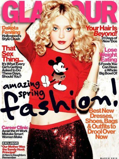 Dakota Fanning é capa da revista americana Glamour-matéria