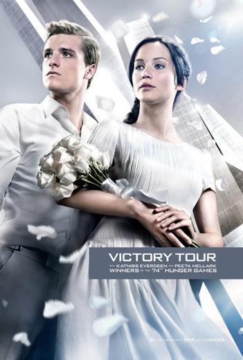"""Poster de """"Em Chamas""""  - turnê da vitória"""