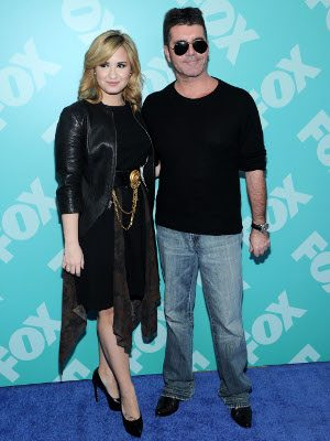 Demi Lovato e Simon Cowell
