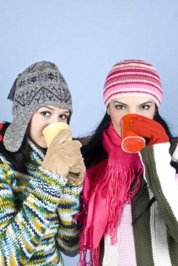 amigas e frio