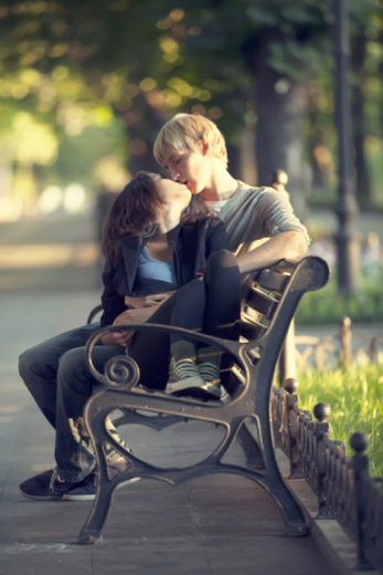 Casal, namorados, beijos