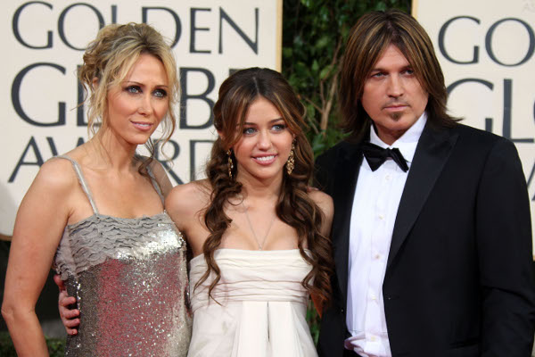 Tish Cyrus, Miley Cyrus e Billy Ray