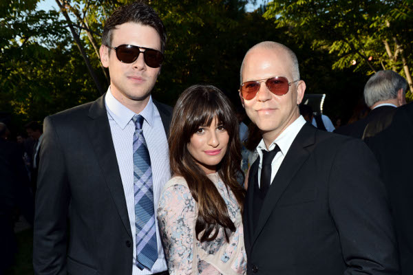 Cory Monteith, Lea Michele e Ryan Murphy
