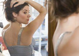 garota, corpo, espelho