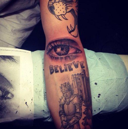 tatuagem de Justin Bieber