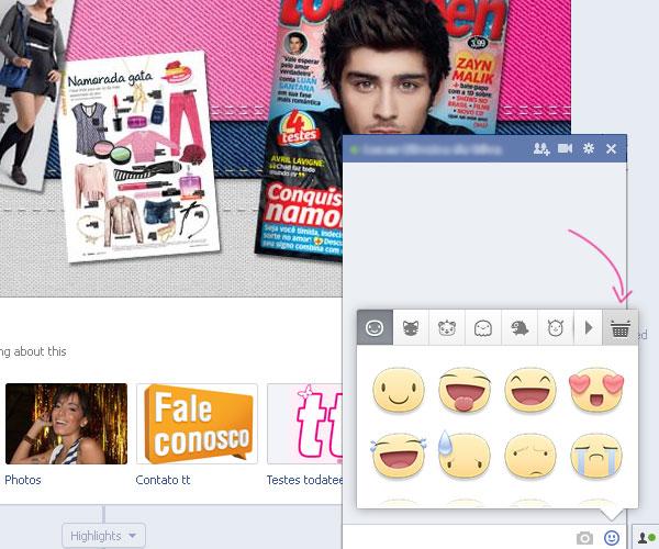 Como habilitar os novos emoticons no Facebook