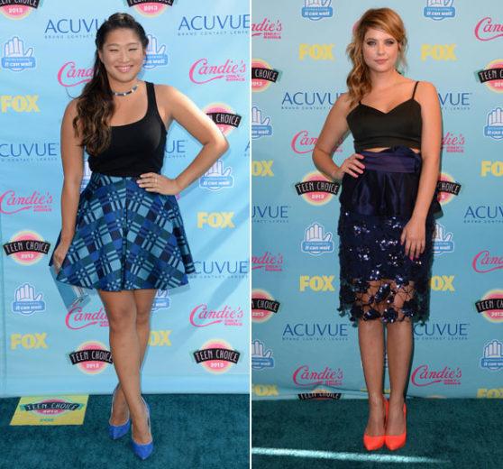 Jenna Ushkowitz e Ahsley Benson no Teen Choice Awards
