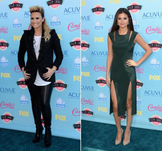 Demi Lovato e Selena Gomez no Teen Choice Awards