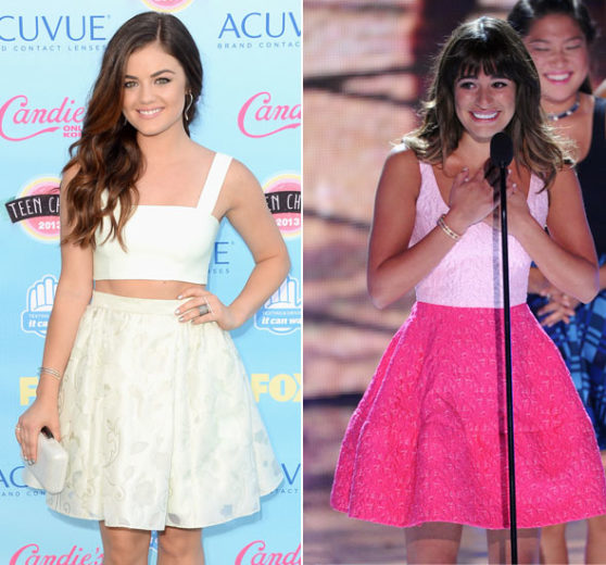 Lucy Hale e Lea Michele no Teen Choice Awards