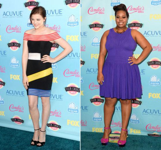 Chloe Moretz e Amber Riley no Teen Choice Awards