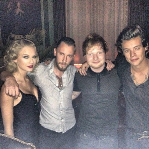 Taylor Swift, Ed Sheeran e Harry Styles