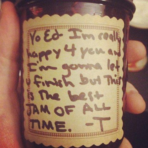 embalagem de geleia de Taylor Swift