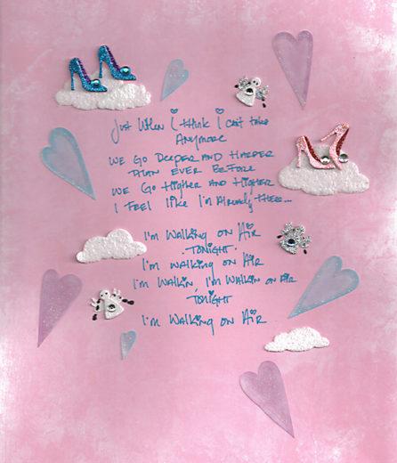 """letra de """"Walking On Air"""""""