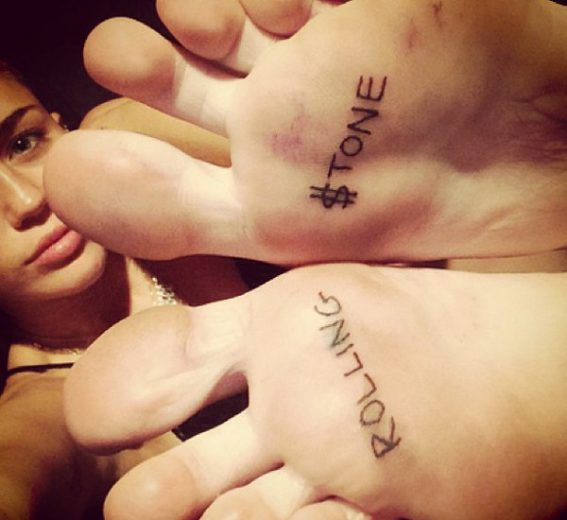 Miley Cyrus, tatuagem