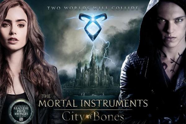 """poster """"instrumentos mortais:cidade dos ossos"""""""