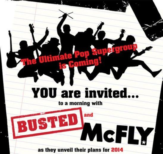 anúncio mcfly e busted