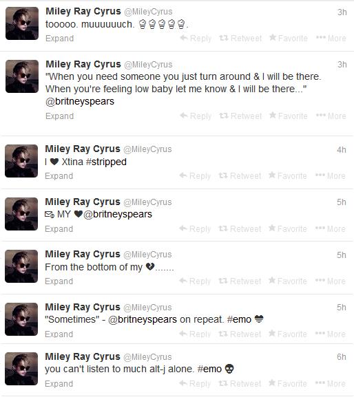Miley Cyrus curte fossa
