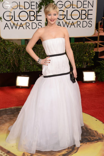 Jennifer Lawrence no Globo de Ouro 2014
