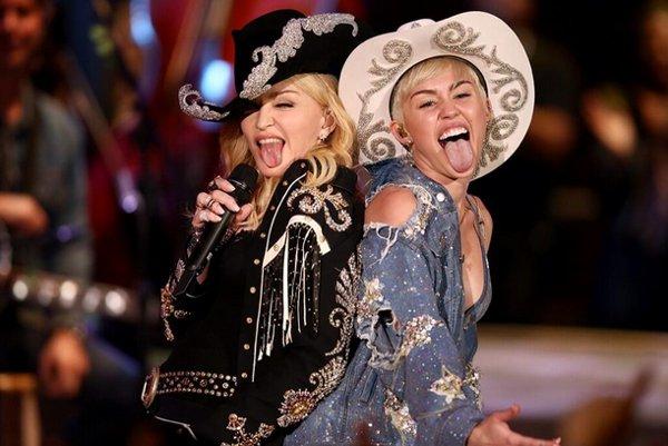 Madonna e Miley Cyrus