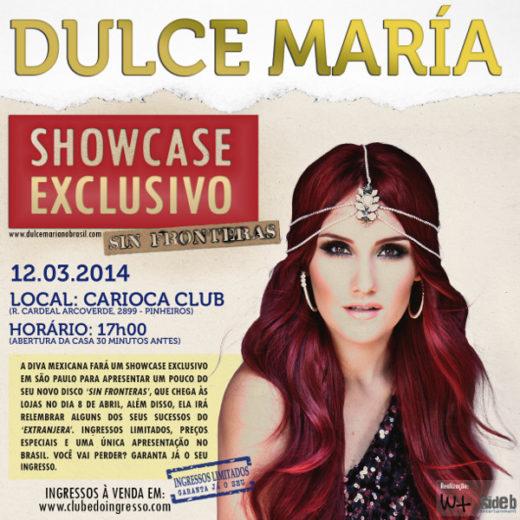 Dulce María fará showcase em São Paulo. Saiba tudo!