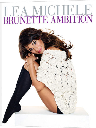 Lea Michele divulga capa de seu primeiro livro