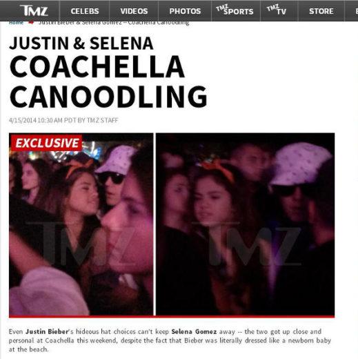 Site divulga fotos de Justin Bieber e Selena Gomez juntos