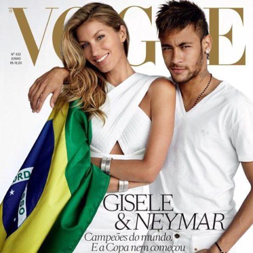 Neymar e Gisele BÜndchen são capa da Revista Vogue Brasil
