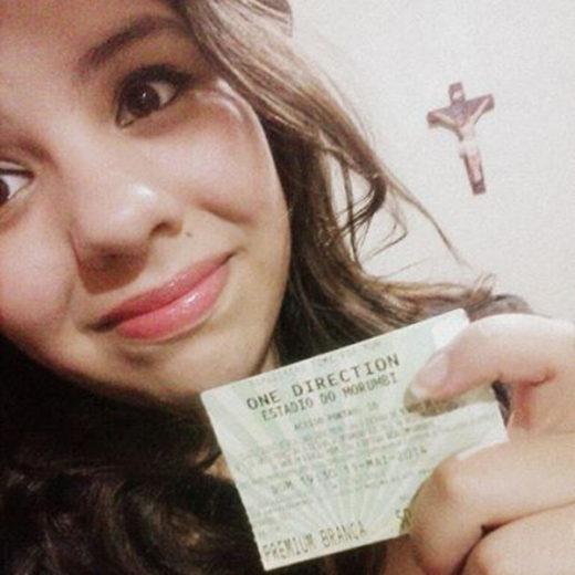 A Bjork ganhou a promoção Super Show da One Direction com ingressos VIPs cedidos gentilmente pela Alcatel One Touch!