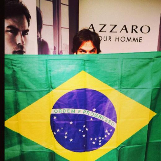 Ian Somerhalder participa de evento em São Paulo