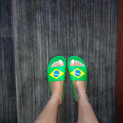 Rihanna torce pelo Brasil na Copa do Mundo