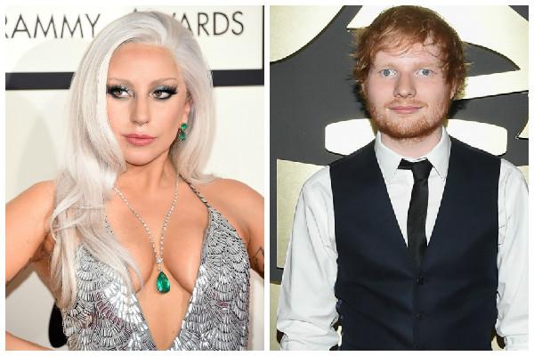 Lady Gaga confude Ed Sheeran com garçom no Grammy