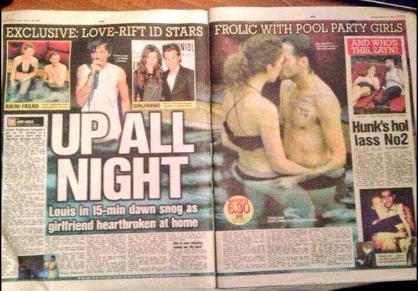 Louis termina com namorada
