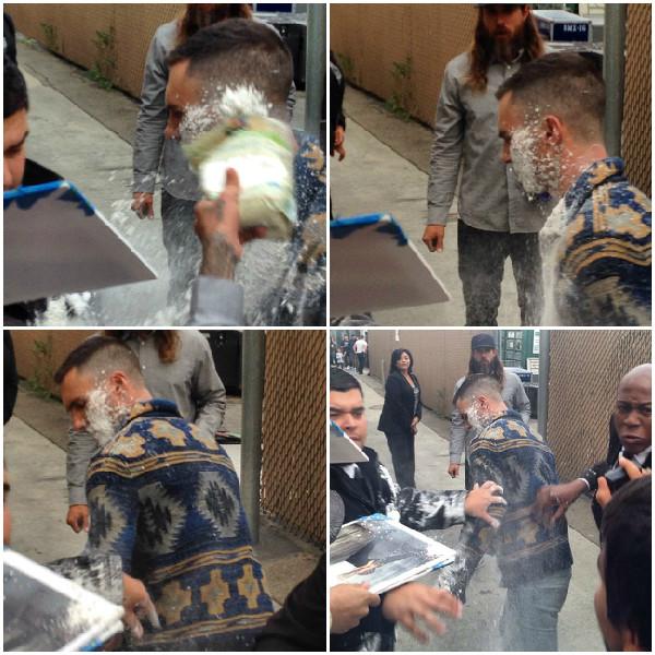 Homem ataca Adam Levine com sacos de açúcar