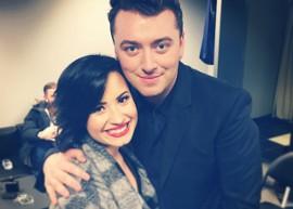 Demi Lovato pede para fazer parceria musical com Sam Smith