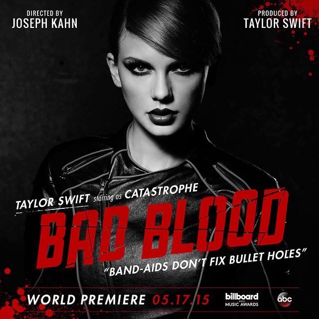 """Taylor Swift revela data de lançamento do clipe """"Bad Blood"""""""