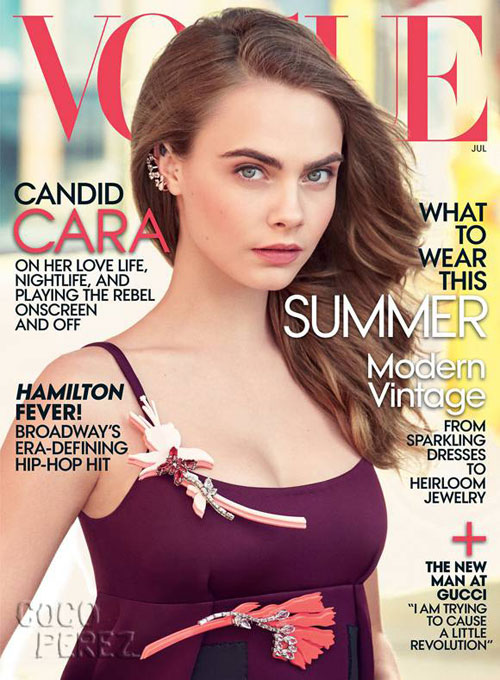 Cara Delevingne na Vogue de Julho 2015