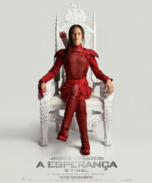 """Veja novos teasers de """"Jogos Vorazes: A Esperança - O Final"""" e pôster com Jennifer Lawrence"""