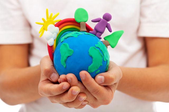 planeta nas mãos