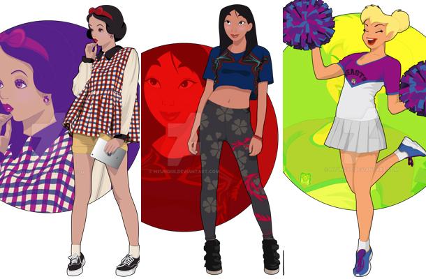 Artista espanhol transforma princesas da Disney em universitárias