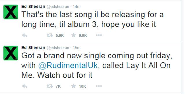 Ed Sheeran divulga data de lançamento de seu novo single