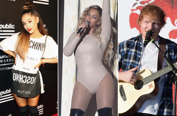 Beyoncé, Ed Sheeran e Ariana Grande participam de festival em Nova York