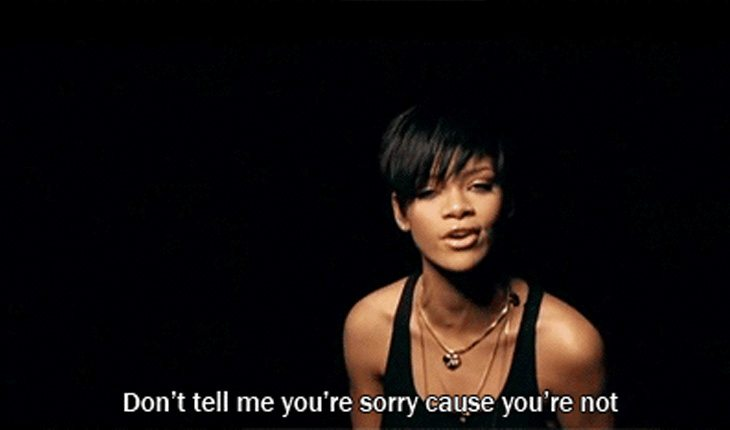 Rihanna tenta superar uma traição em Take a Bow