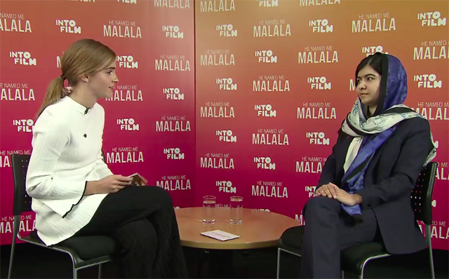 Malala Yousafzai agradece Emma Watson e diz que foi a atriz quem a ajudou a entender o feminismo