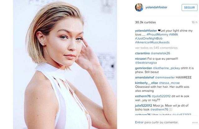 Bapho do AMAs: Gigi Hadid cortou o cabelo ou não?